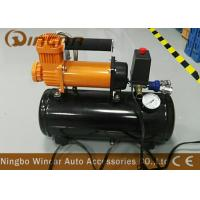 China Auto 12v Portable Air Compressor 12v 30mm Orange Color With 8 Liter Tank wholesale