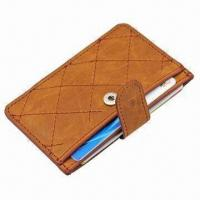 China Card Wallet, Customized Designs are Welcome, with 200pcs MOQ, Various Colors and Styles Available wholesale