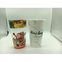 Buy cheap Cold Drink Printed Plastic Cups with lid Hard / PP Plastic Injection Bubble Tea Cup from wholesalers