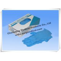 China Blue Nitrile Medical Surgical Gloves AQL 1.5 4 mil Powder Free wholesale