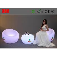 Buy cheap Unbreakable LED Half Moon Table Modern Style With Built - In Rechargeable from wholesalers