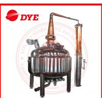 China Red Copper Pot Still Distillation Industrial For Low Alcohol Concentration wholesale