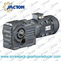 China 30HP 22KW K Series bevel speed reducer, cast iron bevel gear box Specifications wholesale