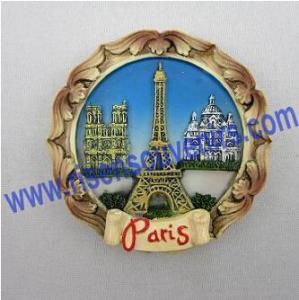 China Paris design fridge magnet;Polyresin magnet wholesale