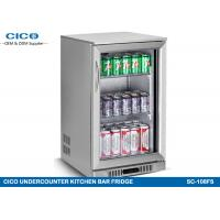 China Stainless Steel Door Kitchenaid Undercounter Refrigerator Double Layer Glass wholesale
