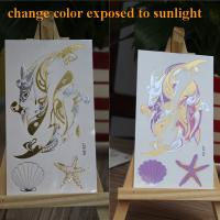 China Glow In The Dark Temporary Tattoos , Water Tansfer Body Art Temporary Tattoos on sale