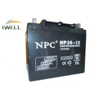 China 12V 38Ah Sealed Rechargeable Lead Acid Battery Solar Power Storage Batteries wholesale