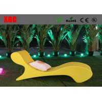 China Waterproof Plastic Outdoor Furniture Color Changing Coffee Chair Lounge wholesale