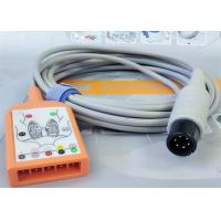 Buy cheap 5 Lead Patient Monitor Ecg Accessories , Holter Ecg Cable Iec Standard from wholesalers