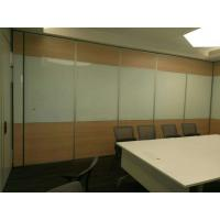 China Hanging System Sliding Roller Acoustic Movable Hotel Wooden Partition Wall wholesale