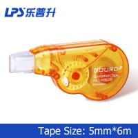 6M Orange Correction Tape Student Stationery Plastic Mini Correction Roller