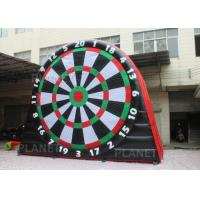 China 5mH Interactive Sports Games Inflatable giant soccer dart board with velcro balls on sale