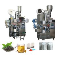China Automatic Pouch Packing Machine For Tea Leaf Bag With Thread And Tag wholesale