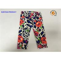 China Rose Print Cute Baby Girl Leggings Lycra Jersey No Side Seam Pant SGS Approved wholesale