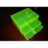 China Fluorescence Green Acrylic Jewelry Display Case Non-Toxicity With Drawers wholesale