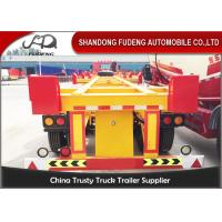 China Bomb Cart 40ft Container Trailer, Double /  Tri Axle Container Chassis wholesale