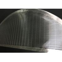 China Stainless Steel Wedge Wire Screen Filter Element For Filtration / Separation In Juice Production wholesale
