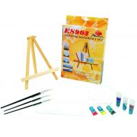 China Beautiful Oil Painting Sets For Adults With Table Triangular Easel wholesale