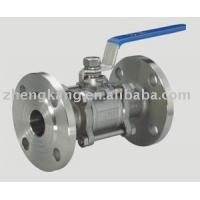 China 304 Handle 3 Piece Stainless Steel Ball Valve Food Grade PTFE Sealing Type on sale