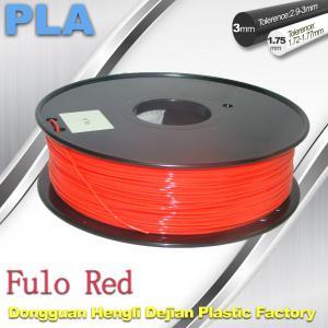 China 1.75 / 3mm Fluorescent Filament   PLA Fluo filament  bright color filament wholesale