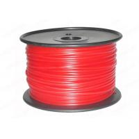 China Red PLA 3mm 3D Printer Filament 3D Printing Materials , PVA / Nylon / Conductive Filament wholesale