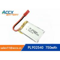 China rc helicopter battery 3.7v 902540 li polymer battery 750mah 25C high rate battery pl902530 wholesale