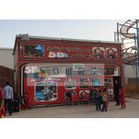 China Fiber Glass Material 5D Movie Theater with Pneumaitc / Hydraulic / Electric System wholesale