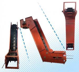 China Vertical Cleated Incline Conveyor , Variable Speed Belt Conveyor Sludge Lifting on sale