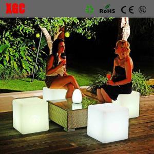 China Plastic LED  Cube luminous Stool for party patio  chirstmas decorating wholesale