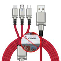 China Custom Apple 4ft All In One USB Charger Cable Hard Shell Zinc Alloy Housing on sale