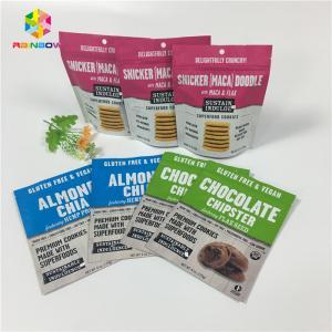 China Resealable Snack Food Packaging Bags Protein / Milk Powder Lamination Aluminum Foil Zip Lock wholesale