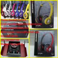 China Black/white red/silver pink/blue purple yellow monster N-TUNE headphone 1:1 as original wholesale