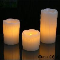 China 3 Set Flickering Electric Battery Operated LED Candles for Holiday / Wedding wholesale