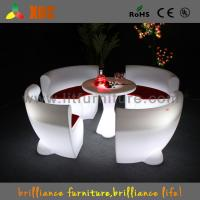China Comfortable LED Light Sofa Led Glowing Plastic Chairs For Night Bar wholesale