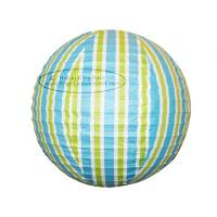 Buy cheap Stripe Colorful Round Paper Lanterns with Metal Wire material from wholesalers