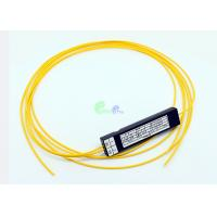China Corning Singlemode 1x2 Fiber Optic Cable Coupler Low Polarization Dependent Loss on sale