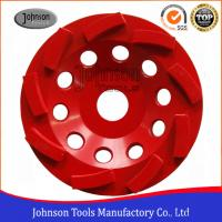Buy cheap Metal Bond 125mm Diamond Swirl Cup Wheel 9 Nos Teeth For Stone / Concrete from wholesalers