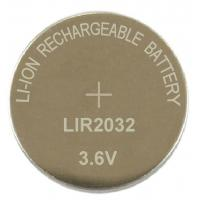China lithium ion button cell batteries LIR2032 wholesale