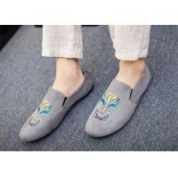 China Black Gray Blue Loafer Slip On Shoes Driving Moccasins Shoes Breathable wholesale