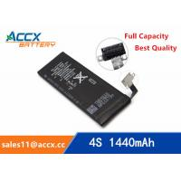 China ACCX brand new high quality li-polymer internal mobile phone battery for IPhone 4S with high capacity of 1450mAh 3.7V wholesale