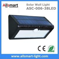 Buy cheap 38LED 550 Lumens 7W Motion Sensor Solar Wall Light PIR Sensor Light Triangle from wholesalers