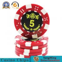 China Durable Plastic UV Light Casino Poker Chips High - Temperature Bronzing on sale