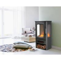 Buy cheap 3 Sided Wooden Burning Electric Fireplace Heater New Patented Led Flame Effect from wholesalers