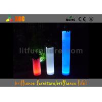 China Square Flower Pots LED Pillar With Colorful Planter For Indoor Or Outdoor wholesale