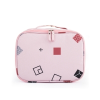 China Printed Pattern Oxford Fabric Makeup Storage Bag with Double Zipper on sale