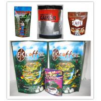 China PET / AL / NY / PE Stand up Bottom Gusset Bags for Coffee Bean wholesale