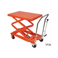 China Four Wheel Heavy Duty Hydraulic Lift Table Platform For Warehouse Material Carrying wholesale