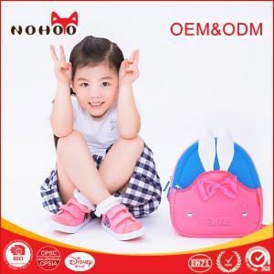 China Kawaii Pink Toddler Book Bag , Rabbit Neoprene Mini Kids School Waterproof Book Bag For Baby Girls wholesale
