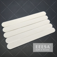 China Straight Thin Professional Wooden Wood 100/180 Grit Nail Files White wholesale
