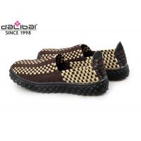 China Anti-Slip Rubber Sole Elastic Weave Shoes Summer Footwear With Close Toe wholesale